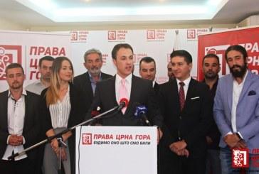 Prava Crna Gora: Želimo da stvorimo snažnu partijsku infrastrukturu