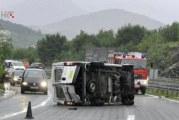 Pljevlja: Migranti ukrali kombi, pa se prevrnuli na putu