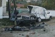 Povrijeđen Damir Pelinkvić iz Bara: Udario u parkirana auta, pa se zakucao u betonski stub