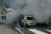 Na putu ka Medunu: Izgorjelo taksi vozilo
