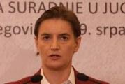 Brnabić: Srbija i srpski narod nijesu odgovorni za Srebrenicu