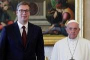 Vučić: Vatikan će čuvati svoju poziciju o Kosovu