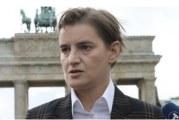 Brnabić u Berlinu: Njemačka i Francuska žele aktivniju ulogu u dijalogu