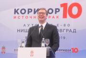 Aleksandar Vučić poslije otvaranja koridora 10: Radićemo sve više, snažnije, uvjeren sam da ćemo živjeti bolje