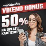 Samo u Meridianu, uplata karticom ti donosi50% bonusa!