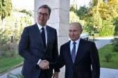 Vučić obavijestio Putina o progonu sveštenstva SPC u Crnoj Gori