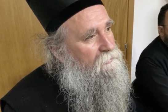 Episkop Joanikije u sudnici 19. juna